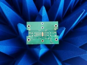 PCB over radio frequency absorbers for EMC tests ALT