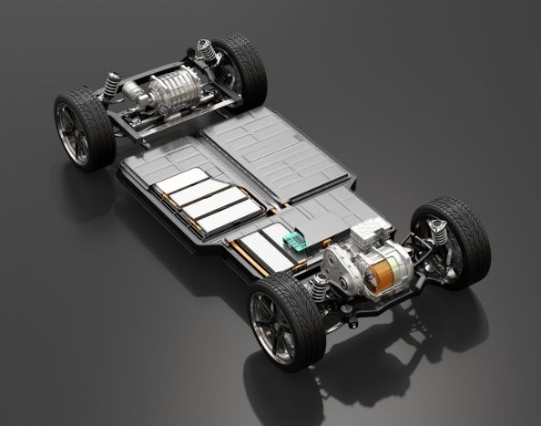 Electric vehicle with battery pack_ALT